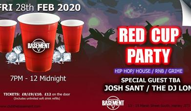 Basement Pres. RED CUP PARTY (15 plus - Under 18s Event)